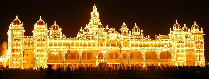 mysore-palace-sunday-night