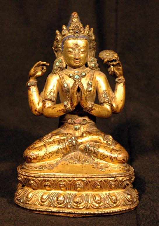 15th-c-tibet-shadakshari-lokeshvara-gilt-c-a-1461-cm-san-diego-moa1