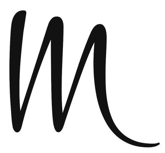 cropped cursive M