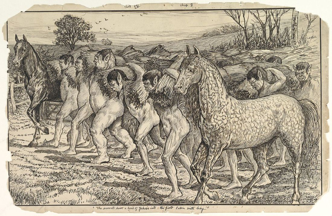 The_Servants_Drive_a_Herd_of_Yahoos_into_the_Field,_from_Gulliver's_Travels